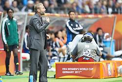 13.07.2011, Commerzbank Arena, Frankfurt, GER, FIFA Women Worldcup 2011, Halbfinale,  Japan (JPN) vs. Schweden (SWE), im Bild.Thomas Dennerby (Coach Schweden).. // during the FIFA Women´s Worldcup 2011, Semifinal, Japan vs Sweden on 2011/07/13, Commerzbank Arena, Frankfurt, Germany.   EXPA Pictures © 2011, PhotoCredit: EXPA/ nph/  Mueller       ****** out of GER / CRO  / BEL ******