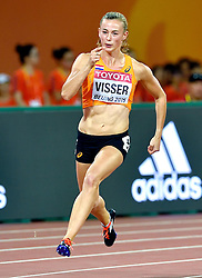 22-08-2015 CHN: IAAF World Championships Athletics day 1, Beijing<br /> Nadine Visser heeft zich op het vierde onderdeel van de zevenkamp bij de WK atletiek in Peking teruggevochten naar de derde plaats in de tussenstand. De twintigjarige atlete liep de 200 meter in 23,78. Daarmee eindigde ze ook op dit onderdeel, het laatste van de eerste dag, als derde.<br /> Photo by Ronald Hoogendoorn / Sportida