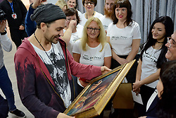 October 3, 2018 - Kyiv, Ukraine - David Garrett record-breaking German pop and crossover violinist performed live during his meet and greet. (Credit Image: © Aleksandr Gusev/Pacific Press via ZUMA Wire)