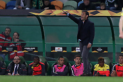 February 14, 2019 - Lisbon, Portugal - Villarreal's head coach Javier Calleja gestures during the UEFA Europa League Round of 32 First Leg football match Sporting CP vs Villarreal CF at Alvalade stadium in Lisbon, Portugal on February 14, 2019. (Credit Image: © Pedro Fiuza/NurPhoto via ZUMA Press)
