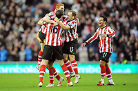 Football - Premier League - Sunderland vs. Everton<br /> Jack Colback (Sunderland) celebrates his goal at the Stadium of Light.