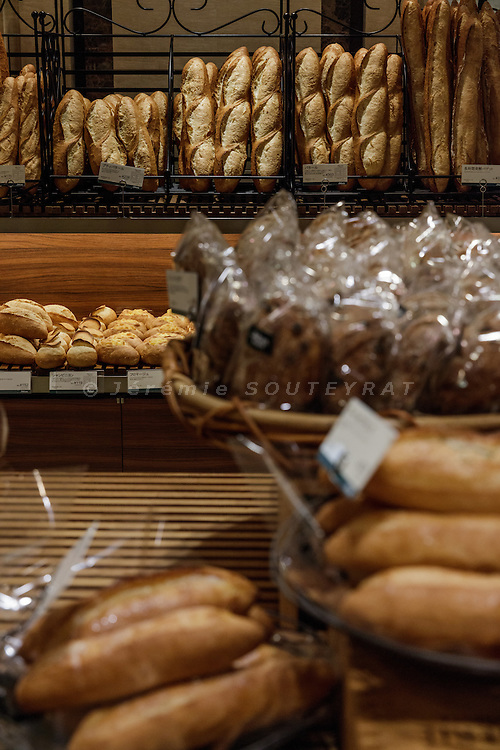 """Tokyo, January 19 2016 - Johan Paris bakery at Mitsukoshi Nihonbashi department store. In Japanese department stores, the basement floor is a foodstuff market area. These areas go by the nickname """"depachika"""" (a combination of """"depato"""", meaning department store, and """"chika"""", meaning basement)."""