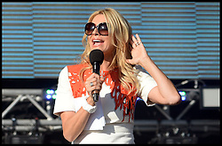 Tess Daly at  the Celebration of the 2012 Olympic Games volunteering one year on at the  Queen Elizabeth Olympic Park.<br /> Mayor of London Boris Johnson and Lord Coe will be taking to the stage at Go Local to encourage a new drive in volunteering one year on from the Games. Also present are multi-platinum selling pop rock band McFly; world famous comedian Eddie Izzard, Brit Award nominated The Feeling, and Britain'Got Talent winners Attraction, in addition to stars Jack Carroll and Gabz. The event will be the UKs biggest ever celebration of volunteering and first Olympic and Paralympic legacy event at Queen Elizabeth Olympic Park.<br /> London, United Kingdom<br /> Friday, 19th July 2013<br /> Picture by Andrew Parsons / i-Images