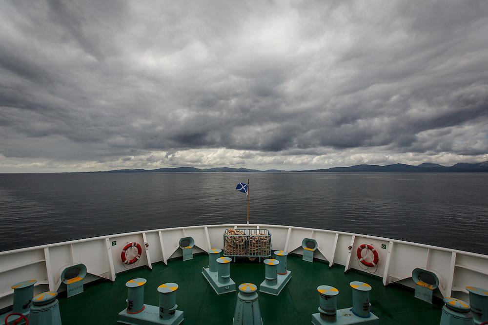 The Caledonian MacBrayne ferry from Kennacraig approaches the Isle of Islay, Scotland, July 14, 2015. Gary He/DRAMBOX MEDIA LIBRARY