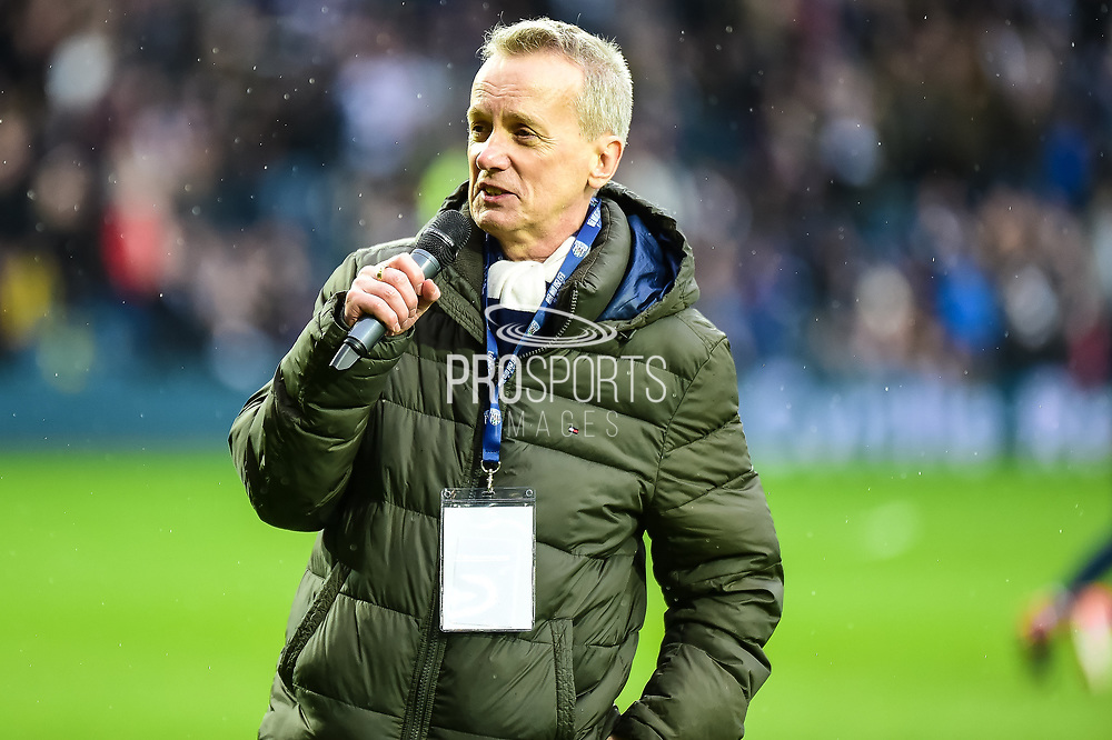 Comedian and presenter Frank Skinner pays his tribute to Cyrille Regis during the Premier League match between West Bromwich Albion and Southampton at The Hawthorns, West Bromwich, England on 3 February 2018. Picture by Dennis Goodwin.