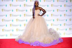 Cynthia Erivo in the press room at the 72nd British Academy Film Awards held at the Royal Albert Hall, Kensington Gore, Kensington, London.