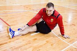 Slovenian player Miladin Kozlina - Diko  during practice session of HC Vardar Skopje at training camp in Kranjska Gora on January 21, 2014 in Dvorana Vitranc Kranjska Gora, Slovenia.   Photo by Vid Ponikvar / Sportida