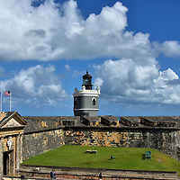 Overview of El Morro in San Juan, Puerto Rico<br />