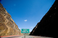El Paso's Trans Mountain Highway, also known as Texas Loop 375.