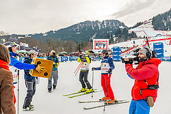 25.01.2020, Streif, Kitzbühel, AUT, FIS Weltcup Ski Alpin, im Bild v.l. Günther Mader, Hans Knauss, Arno Schuchter // f.l. Günther Mader Hans Knauss Arno Schuchter during the KitzCharityTrophy 2020 at the Streif in Kitzbühel, Austria on 2020/01/25. EXPA Pictures © 2020, PhotoCredit: EXPA/ Stefan Adelsberger