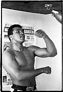 Muhammad Ali - 5th St Gym/Miami Beach, FL      Tri-X     September 1970<br /> training/workout prior to fighting Jerry Quarry in Atlanta (Oct 1970)