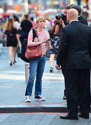 EXCLUSIVE: Chelsea Manning strolls through Times Square where it appears she may be taping b-roll for an interview. Manning was recently released from a military prison where she was serving a sentence for espionage. Release via a commutation from President Obama, the Wikileaker is now free. 12 Jun 2017 Pictured: Chelsea Manning. Photo credit: JDH Imagez/MEGA TheMegaAgency.com +1 888 505 6342
