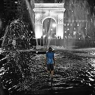 A hot summer night at Washington Square Park