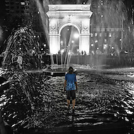 A hot summer night at Washington Square Park