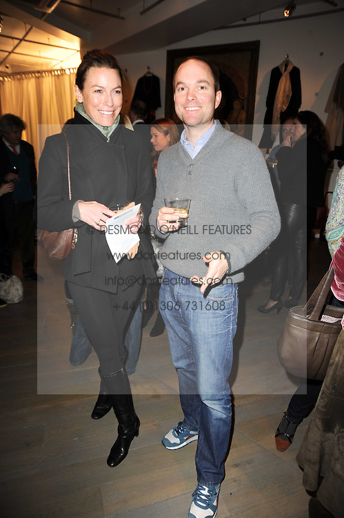 HUGO CHITTENDEN and JESSICA CRAIG at reception to raise funds for a Ugandan School Project supported by the Henry van Straubenzee Memorial Fund held at Few & Far, 242 Brompton Road, London SW3 on 11th February 2010.