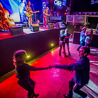 Visitors swing to the tunes of The Salty Suites at The Cave in Big Bear Lake, Friday, March, 10, 2017. (EricReedPhoto.com)
