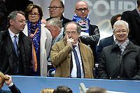 THIERRY BRAILLARD  / NOEL LE GRAET / CLAUDE BARTOLONE  - 11.04.2015 -  Bastia / PSG - Finale de la Coupe de la Ligue 2015<br />Photo : Visual / Icon Sport