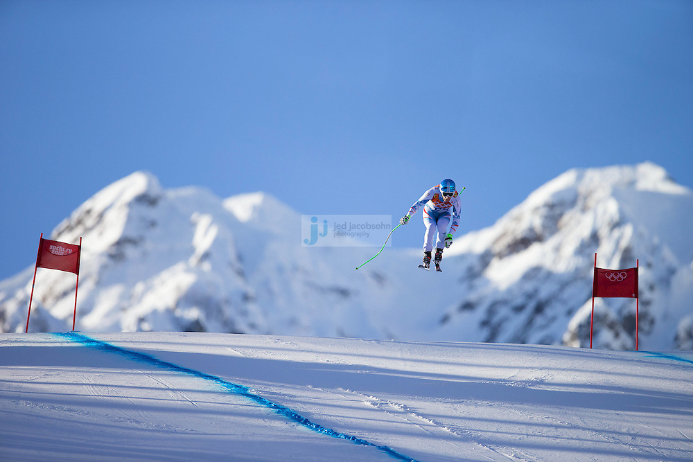 Alpine Skiing: 2014 Winter Olympics:  Otmar Striedinger of Austria skis during training for the Alpine Skiing Men's Downhill ahead of the Sochi 2014 Winter Olympics at Rosa Khutor Alpine Center on February 7, 2014 in Sochi, Russia. (Photo by Jed Jacobsohn /Sports Illustrated)