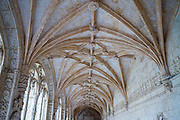Cloisters of famous Monastery of Jeronimos - Mosteiro  dos Jeronimos in Lisbon, Portugal