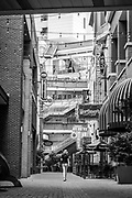 Alleyway from South College St into the Epicentre in Uptown Charlotte, North Carolina