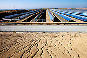 Solnova 1, 3, and 4, Completed in 2010, the Solnova parabolic through power plant stations, owned by Abengoa Solar, can generate 50 MW power each.