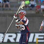 Mitch Belisle #85 of the Boston Cannons is seen during the game at Harvard Stadium on May 17, 2014 in Boston, Massachuttes. (Photo by Elan Kawesch)