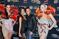 Serena Fae et Giuseppe 5ile Verite 4) lors de la Ceremonie de la Finale du Concours Top Model Belgium au Lido de Paris presentee par Adriana Karembeu. France, Paris, le 10 mai 2015.