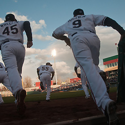 Aces take the field, 2012. Photo by David Calvert/Reno Aces