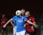 06/10/2017 - St Johnstone v Dundee - Dave Mackay testimonial at McDiarmid Park, Perth, Picture by David Young - Dave Mackay battles for the ball with Gary Harkins