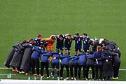 Japan team huddle during the International Friendly Women's Football between Football Ferns vs Japan, Westpac Stadium, Wellington, Sunday 10th June 2018. Copyright Photo: Raghavan Venugopal / © www.Photosport.nz 2018