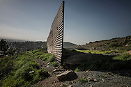 The US/Mexico border wall inexplicably ends, creating a gap, at Nido de las Águilas (Eagles' Nest) where Otay Mesa meets the mountains.  Tijuana, Baja California, Mexico.