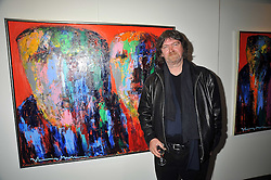 Artist JOHNNY MADSEN at a private view of his work at Mews 42 Gallery, South Kensington, London on 15th April 2009.