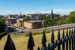 View of National Gallery of Scotland from The Mound in Edinburgh, Scotland, UK