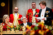 King Willem-Alexander and Queen Maxima offer an state banquet to Jorge Carlos de Almeida Fonseca, president of Kaapverdie Cape Verde in the Royal Palace in Amsterdam, The Netherlands, 10 December 2018.  COPYRIGHT ROBIN UTRECHT