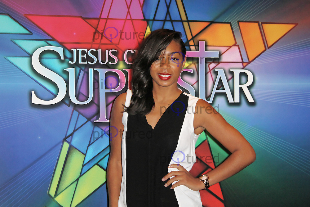 LONDON - SEPTEMBER 21: Zaraah Abrahams attended the Launch Night of 'Jesus Christ Superstar' at the O2 Arena, Greenwich, London, UK. September 21, 2012. (Photo by Richard Goldschmidt)