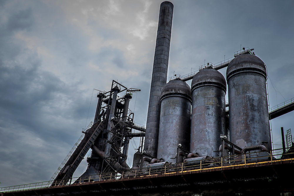 The Carrie Furnaces were built in 1881 as part of U.S. Steel's Homestead Works, a sprawling 400-acre complex that spanned both sides of the Monogahela river. They produced up to 1,250 tons of steel a day until 1978 when they were closed. <br />