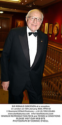 SIR RONALD GRIERSON at a reception in London on 15th January 2004.PPW 82