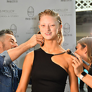 James Molloy of Mykitco and model Mairi Shaw demo at IMATS on 18 May 2019,  London, UK.