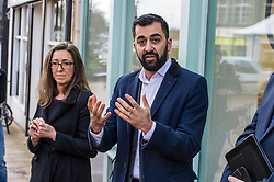 Pictured: , Clara Walker, Forth Environment Link Chief Executive and Humza Yousaf<br /> Transport minister Humza Yousaf MSP opened Falkirk's active travel hub. The resource will encourage people to make healthier, greener travel choices. <br /> <br /> <br /> Ger Harley | EEm 6 February 2018