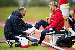 June 1, 2018 - Reykjavik, ICELAND - 180601 Mats Møller Dæhli of Norway with an injury during a training session on June 01, 2018 in Reykjavik..Photo: Fredrik Varfjell / BILDBYRÃ…N / kod FV / 150104 (Credit Image: © Fredrik Varfjell/Bildbyran via ZUMA Press)