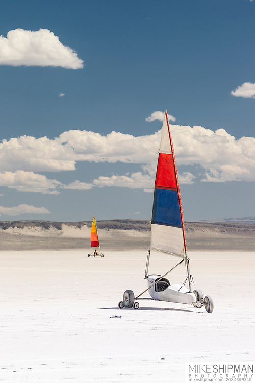 Land sailing, Alvord Desert, south central Oregon