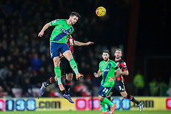 Shane Long of Southampton heads the ball - Mandatory by-line: Jason Brown/JMP - Mobile 07966 386802 01/03/2016 - SPORT - FOOTBALL - Bournemouth, Vitality Stadium - AFC Bournemouth v Southampton - Barclays Premier League