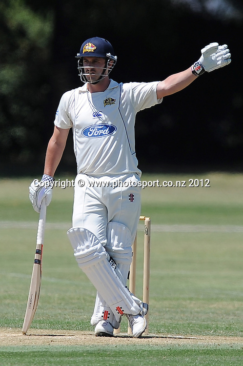 Otago Volts Hamish Rutherford in the Plunket Shield Cricket match, Central Stags vs Otago Volts, Nelson Park, Napier, New Zealand. Wednesday 28 November 2012. Photo: Kerry Marshall / photosport.co.nz