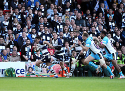 Bristol Left Wing David Lemi breaks free to score  try  - Photo mandatory by-line: Joe Meredith/JMP - Mobile: 07966 386802 - 20/05/2015 - SPORT - Rugby - Bristol - Ashton Gate - Bristol Rugby v Worcester Warriors - Greene King IPA Championship - Play-Off Final