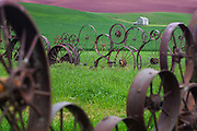Iron Wheels Fence in Palouse Washington