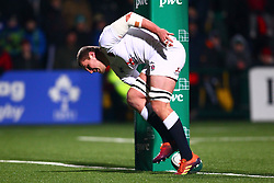 Tom Willis of England U20 touches down for his sides second try - Mandatory by-line: Ken Sutton/JMP - 01/02/2019 - RUGBY - Irish Independent Park - Cork, Cork - Ireland U20 v England U20 -