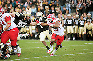 November 23, 2012: Utah Utes senior running back John White (15) in action during the NCAA Football game between the Utah Utes and the Colorado Buffaloes at Folsom Field in Boulder Colorado