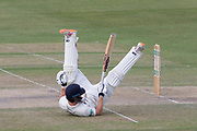 Miles Hammond fails with the ramp during the Specsavers County Champ Div 2 match between Gloucestershire County Cricket Club and Leicestershire County Cricket Club at the Cheltenham College Ground, Cheltenham, United Kingdom on 18 July 2019.