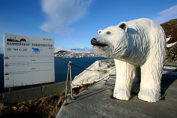 NORWAY HAMMERFEST 23MAR07 - Polarbear statue near  Hammerfest, the world's most northerly town...jre/Photo by Jiri Rezac..© Jiri Rezac 2007..Contact: +44 (0) 7050 110 417.Mobile:  +44 (0) 7801 337 683.Office:  +44 (0) 20 8968 9635..Email:   jiri@jirirezac.com.Web:    www.jirirezac.com..© All images Jiri Rezac 2007 - All rights reserved.