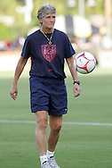22 July 2009: United States head coach Pia Sundhage (SWE). The United States Women's National Team defeated the Canada Women's National Team 1-0 at Blackbaud Stadium in Charleston, South Carolina in an international friendly soccer match.